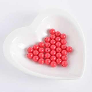 Бусина пластик 10мм красная (цена за 1г)