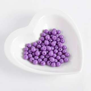 Бусина пластик 8мм фиолетовая (цена за 1г)