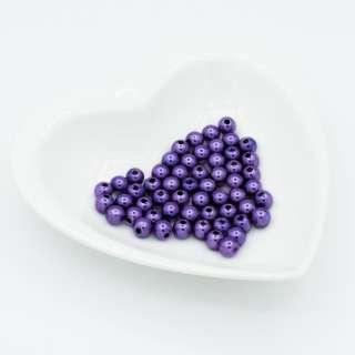Бусина под жемчуг 8мм фиолетовая (цена за 1г)