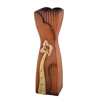 ваза керам. беж-желтая с зауж.центром и золот.цв, 50 см