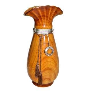 ваза для цв. под дерево со шнуром, кистями и подвес.