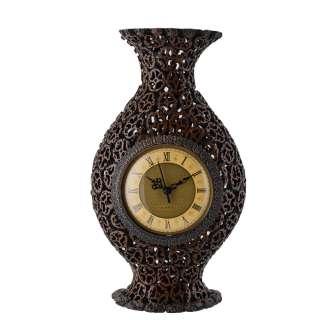 Часы настольные ваза под ореховый срез 37х21х8 см