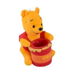 Мягкая игрушка подставка стаканчик 7,5х6,5х6,5 см Винни Пух 16см на присоске