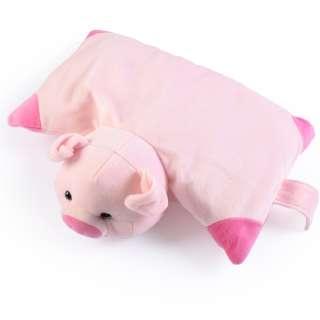 Мягкая подушка игрушка свинка 30х38 см высота 18 см розовая