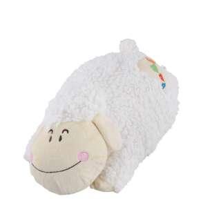 Мягкая подушка игрушка овечка 42 см высота 16 см белая