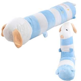 Мягкая подушка валик игрушка такса 73 см высота 18 см белая с голубым