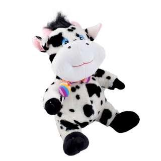 корова пятнистая черно-белая (сидит), 35см