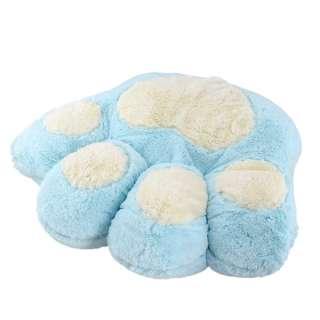 Мягкая подушка игрушка лапка 30х35 см голубая