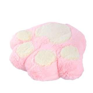 Мягкая подушка игрушка лапка 30х35 см розовая