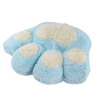 Мягкая подушка игрушка лапка 40х45 см голубая