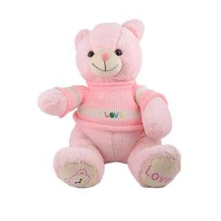 Мягкая игрушка мишка в розовой кофточке 40 см розовый