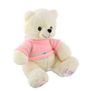Мягкая игрушка мишка в розовой кофточке 40 см белый