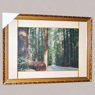 Картина гобелен под стеклом дорога через лес