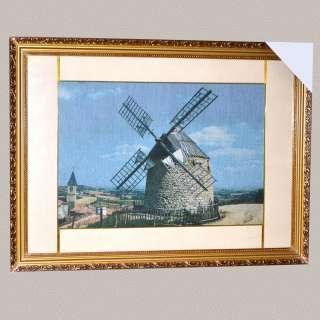 Картина гобелен под стеклом ветряная мельница