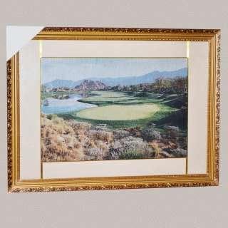 Картина гобелен под стеклом горы озеро