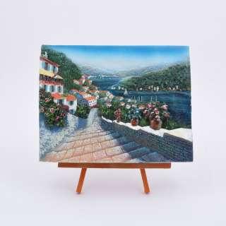 картина пластик на дерев. подставке Дорога, море, 18х22