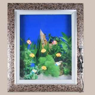 картина аквариум зеленые водоросли 60х70 с подсветкой