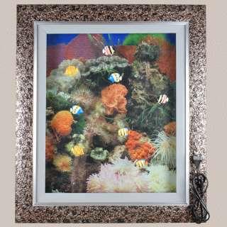 картина аквариум оранжевые кораллы 60х70 с подсветкой