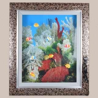 картина аквариум белые кораллы 60х70 с подсветкой