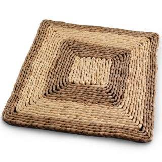Сервировочный коврик плетеный квадратный 30х30 см бежево-коричневый