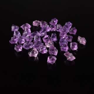 Кристаллы акрил 1,5x1,5x2,5 см сиренево-розовые 1шт