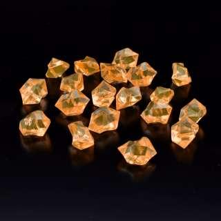 Кристаллы акрил 1,5x1,5x2,5 см оранжевые светлые упаковка 180 шт