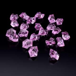набор кристаллов розово-сиреневых стеклянных