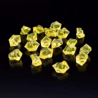 Кристаллы акрил 1,5x1,5x2,5 см желтые упаковка 180 шт