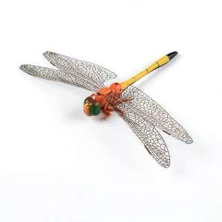 Магнит декоративный Стрекоза 13х9 см оранжево-желтая