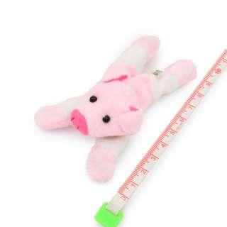 Магнит декоративный мягкая игрушка 9х5х3 см поросенок розовый