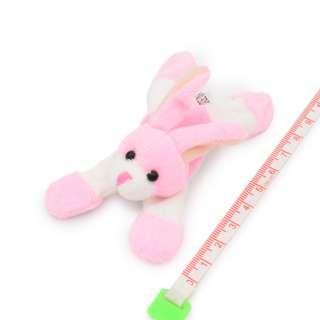 Магнит декоративный мягкая игрушка 9х5х3 см зайчик розовый