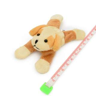 Магнит декоративный мягкая игрушка 9х5х3 см собачка бежевая