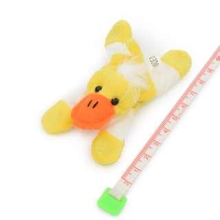 Магнит декоративный мягкая игрушка 9х5х3 см уточка желтая