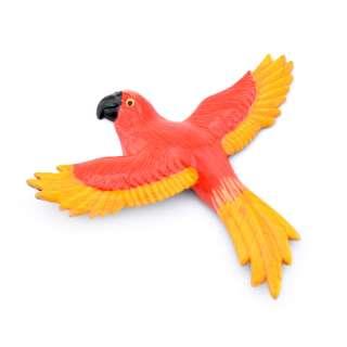 Магнит на холодильник Попугай 13х11см красный с желтыми крыльями 13х11см