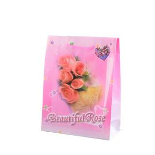 Пакет подарочный 16х12х6 см с розами Beautiful Rose розовый