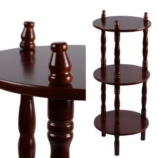 Стеллаж круглый 3 полки деревянный 70х29х29 см коричневый