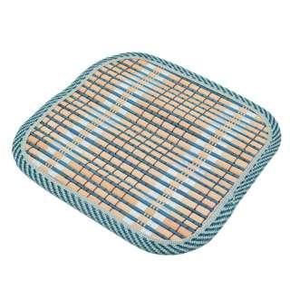 Подставка под горячее бамбуковая соломка квадратная 17х17 см бежево-синяя