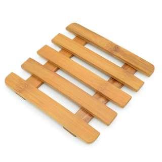 Подставка под горячее бамбуковая решетка 5 планок 15х15 см