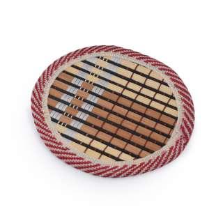 Подставка под чашки бамбуковая соломка круглая коричневая 10 см