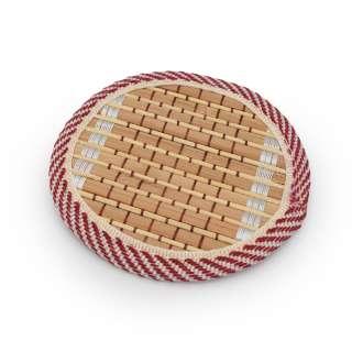 Подставка под чашки бамбуковая соломка круглая бежевая 10 см
