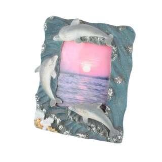 Рамка для фото лепка море дельфины 13х17 см для фото 8х11 см