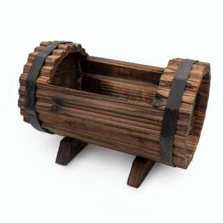 Бочка деревянная декоративная с прорезью 16х23х16см вн. 13х17х11см