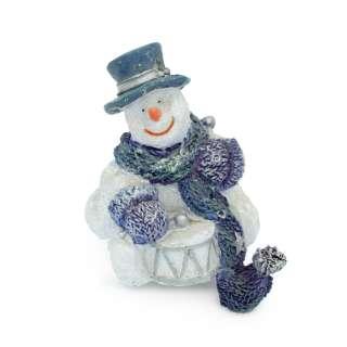 Новогодняя фигурка снеговик 8,5х7,5х7 см