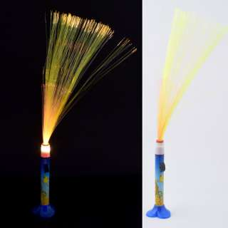 Ночник светильник на батарейках Фейерверк 40 см сине-оранжевый со львом