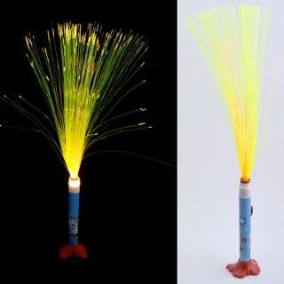 Ночник светильник на батарейках Фейерверк 40 см голубой с мишкой