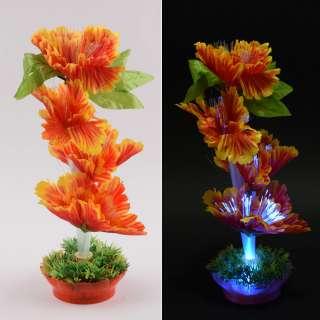 Ночник светильник на батарейках 25 см Цветок оранжевый