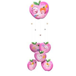 Музыка ветра подвеска керамическая яблоко 60 см розовая (0402)