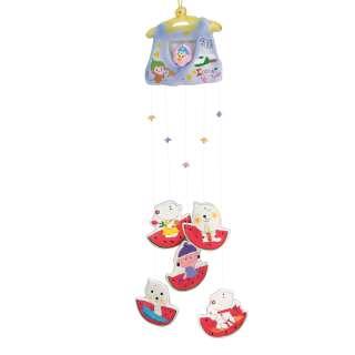 Музыка ветра подвеска керамическая маечка и арбузики 60 см фиолетово-красная (0401)
