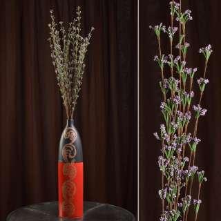 Искусственная веточка 100 см полевых цветов сиреневая