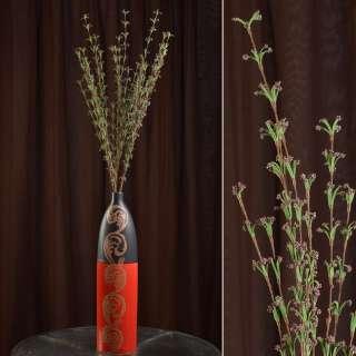 Искусственная веточка 100 см полевых цветов фиолетовая